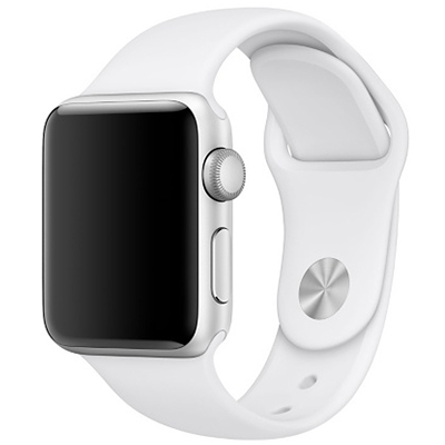 APPLE WATCH SERIES 5 44MM SILVER AL WHITE SPORT BAND
