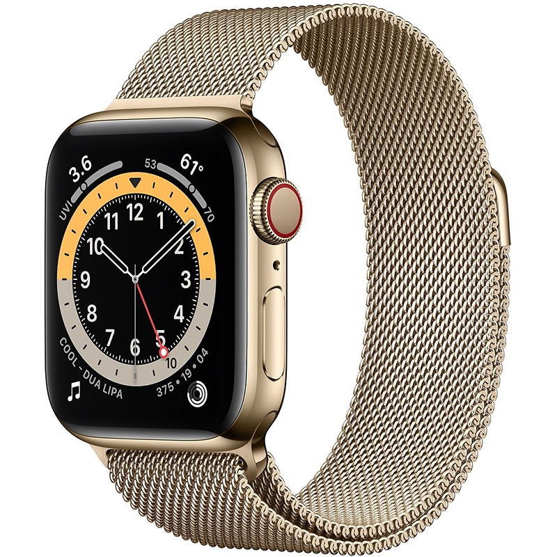 APPLE WATCH SERIES 6 40MM VIỀN THÉP DÂY THÉP (GPS + CEL)