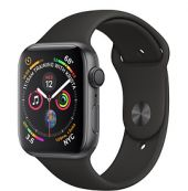 APPLE WATCH SERIES 4 44MM SPACE GRAY ALUMINUM BLACK SPORT BAND VN/A (GPS)
