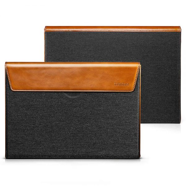 TÚI CHỐNG SỐC TOMTOC (USA) PREMIUM LEATHER FOR MACBOOK PRO 13″ NEW/AIR 13″ 2018 – H15-C02Y