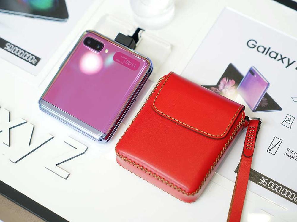 Bao da Samsung Galaxy Z Flip KHẮC TÊN
