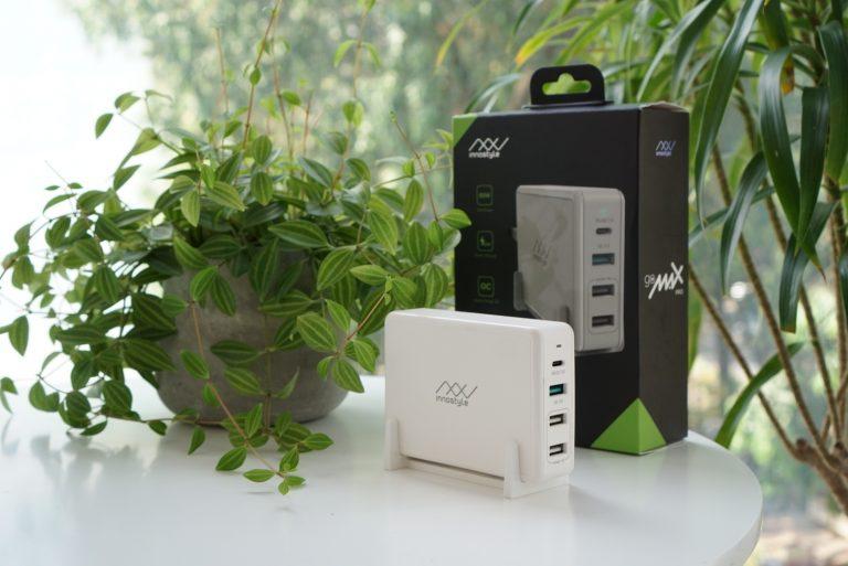 SẠC ĐA CỔNG MACBOOK INNOSTYLE GOMAX PRO 80W (USB-C PD 65W + 1*USB A QC3.0 18W + 2*USB A SMART AI) – IC80-4PD